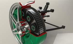 Мотор-колесо для электромобиля