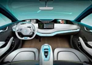Салон электромобиля