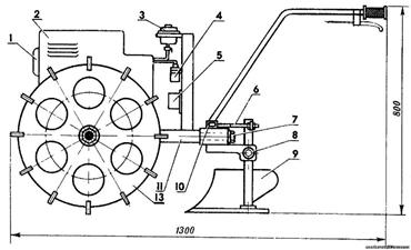 Схема электрического снегоуборщика на основе мотоблока
